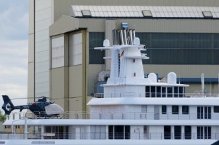 Super yacht ICE - Helicopter Landing Area - Photo by DrDuu